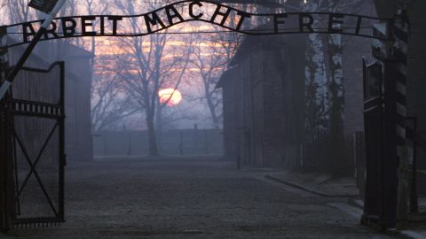 The gates of the prison camp.