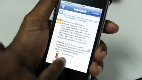 About one third of Facebook's 750 million users access the site from mobile phones.