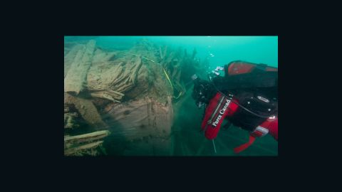 """Parks Canada discovered the wreck of """"HMS Investigator"""" last year. It's hoped the site will provide vital clues to solve the mystery of Erebus and Terror."""