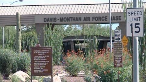 A gunman is believed to be holed up in a building on the Davis-Monthan Air Force Base in Tuscon, Arizona.