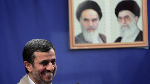 Iranian President Mahmoud Ahmadinejad, pictured on August 26, is being urged to free filmmakers and journalists.