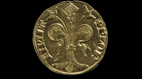 A gold florin from Florence, 1252-1303. The Florin was a gold coin that was used as a stable currency all over Europe.