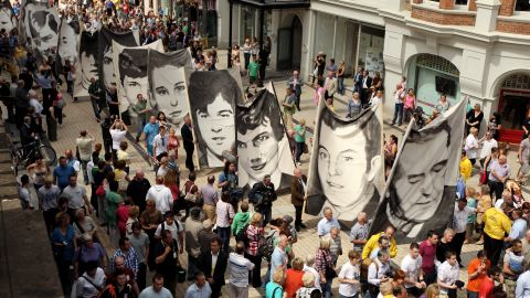 Members of the Bloody Sunday Justice Campaign march in 2010.