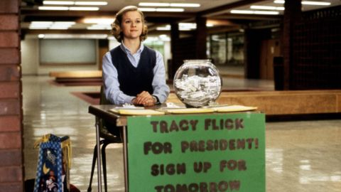 """This political season has been... a lot. If you are suffering from election fatigue, we can help you escape into the world of make believe with a few political films. Reese Witherspoon gives a brilliant performance in <strong>""""Election""""</strong> as Tracy Flick, the overachiever who will do just about anything to win student body president. Anything. Matthew Broderick plays civics teacher Jim McAllister, who's determined to derail her """"Pick Flick"""" campaign."""