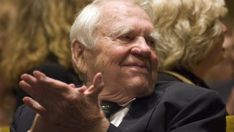 """TV journalist Andy Rooney, a commentator on CBS's """"60 Minutes,"""" died  November 4 from complications after minor surgery. He was 92. <a href=""""http://articles.cnn.com/2011-11-05/us/us_obit-andy-rooney_1_andy-rooney-jeff-fager-cbs-statement?_s=PM:US"""">Full story</a>"""
