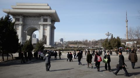 "North Korea's capital Pyongyang, like Paris, has an ""Arch of Triumph."""
