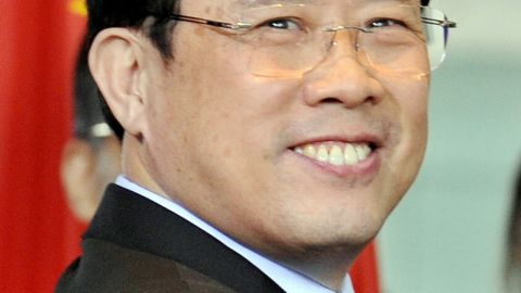 A file picture from January 29, 2009 shows Liang Wengen, of Sany Group, in Berlin as part of a group with the Chinese Premier.