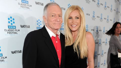 """Hugh Hefner first proposed to Crystal Harris in December 2010, but <a href=""""http://marquee.blogs.cnn.com/2011/06/14/hugh-hefners-fiancee-calls-off-the-wedding/"""" target=""""_blank"""">the couple</a> <a href=""""http://marquee.blogs.cnn.com/2011/07/20/hugh-hefner-i-missed-a-bullet/"""" target=""""_blank"""">broke up</a> <a href=""""http://marquee.blogs.cnn.com/2012/06/04/hugh-hefner-and-crystal-harris-rekindle-romance/"""" target=""""_blank"""">before they finally made it</a> down the aisle <a href=""""http://marquee.blogs.cnn.com/2013/01/01/hugh-hefner-weds-ex-fiancee-crystal-harris/?iref=allsearch"""" target=""""_blank"""">two years later. </a>"""