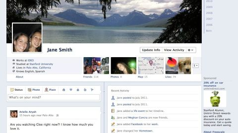 A general release of Facebook's Timeline was planned for September, but it was delayed.
