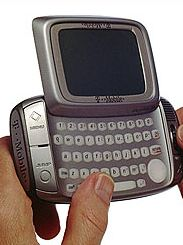 """You can blame the <a href=""""http://wiki.sidekick.com/page/Sidekick+History"""" target=""""_blank"""" target=""""_blank"""">Black & White T-Mobile Sidekick</a> for the millennial generation's obsession with text messaging. The phone was basically a two-way pager, allowing messages to be sent back and forth. The phone retailed for $249 and appeared in Jay-Z's music video """"Excuse Me Miss."""" Later versions added a color screen and quickly became a favorite among celebrities and teens."""