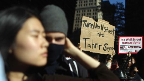 """The crowds at the """"Occupy Wall Street"""" rally on Wednesday seemed to be the largest since the protests started."""