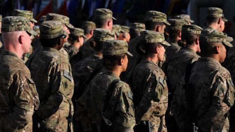 US soldiers at Bagram Airfield, one of the largest military bases in Afghanistan.