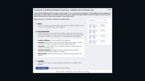 Facebook introduced instant personalization, which gave partner  websites information about users so they could personalize your experience. Advocacy groups like the ACLU reacted negatively to the new feature, saying users should have to opt in instead of getting the setting by default. Under pressure, Zuckerberg tweaked Facebook's settings to give users greater control over privacy.