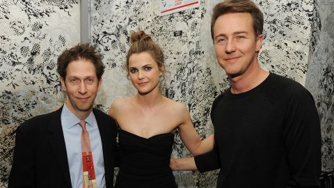 """Another Oscar nominee, Norton, at right with Tim Blake Nelson and Keri Russell, has gone from """"Fight Club"""" to """"The Incredible Hulk."""" He's got range, and we think he could capture Jobs' intensity. Wondering about his ability to trans"""