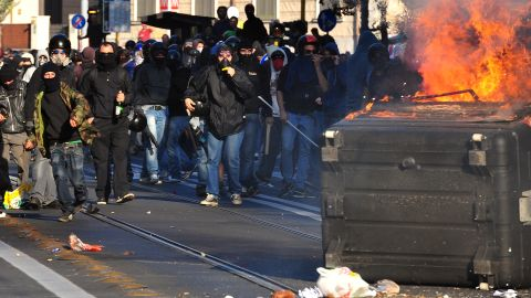 Vandalism erupts in Rome on Saturday as protesters initially took peacefully to the streets to speak out against corruption. Anarchists clashed with police and other protesters who attempted to extricate the rowdy demonstrators from the march. Tens of thousands of protesters marched in Rome as part of a global day of protests.