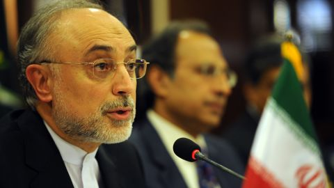 Iranian Foreign Minister Ali Akbar Salehi, left, with Pakistani finance minister Abdul Hafeez Shaikh last month.