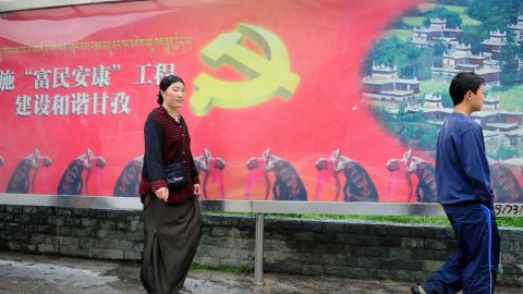 China rejects accusations of oppression of Tibetans, saying its rule has greatly improved living standards.