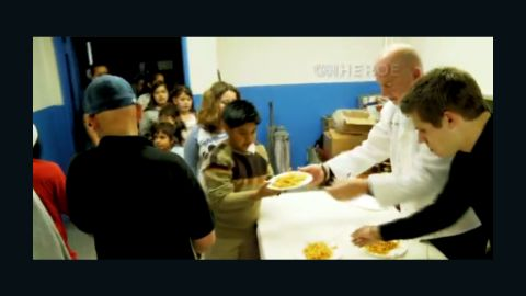 CNN Hero Bruno Serato has been cooking and serving free pasta dinners to underpriviledged kids