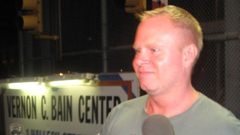 Former JetBlue flight attendant Steven Slater leaves a New York detention facility after posting bail in August 2010.