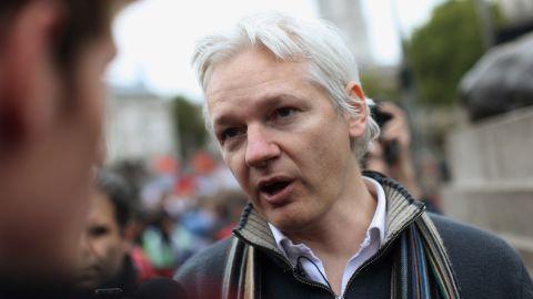 Julian Assange, founder of the WikiLeaks website, is interviewed in London on October 8, 2011.