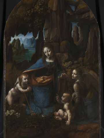"""""""The Virgin of the Rocks,"""" at the National Gallery, after an 18-month conservation treatment."""