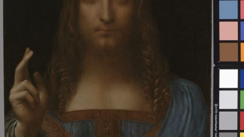 """Leonardo da Vinci's """"Salvator Mundi"""" was only recently re-discovered, having previously thought to have been painted by one of da Vinci's pupils."""
