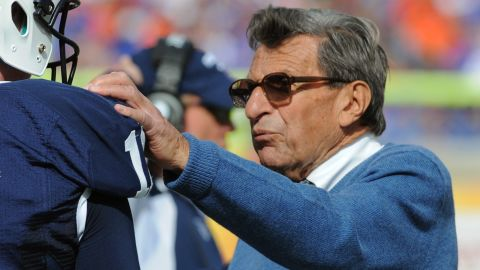 """Penn State head football coach Joe Paterno said he is """"deeply saddened"""" about the sex abuse allegations."""