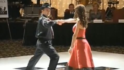 Majid and Bita Fotuhi dance the tango at a fundraising gala for Alzheimer's research.