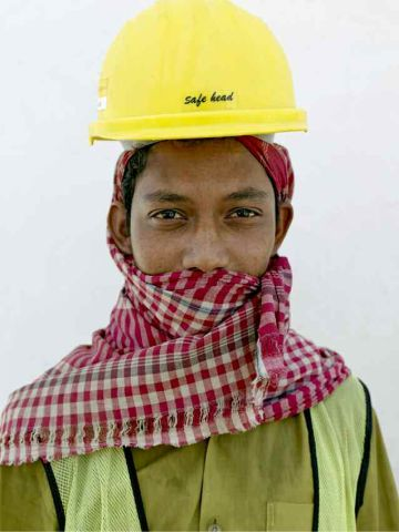 Most of the migrant workers Chancel encountered were from India and Pakistan.