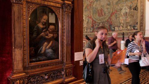 "The ""Benois Madonna"" by Leonardo da Vinci was discovered in 1909."