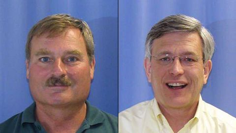Gary Schultz, left and Timothy Curley have been charged with perjury and failing to report an alleged sexual assault of a child.