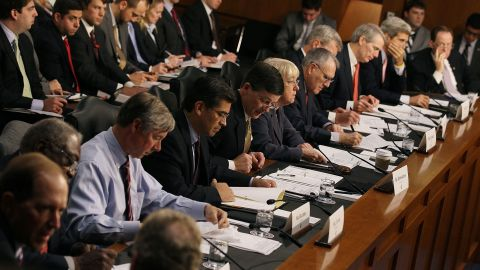 Members of the House and Senate participate in a Joint Deficit Reduction Committee hearing October 26 in Washington, DC. The committee is tasked with finding $1.5 trillion in deficit reduction by Thanksgiving.