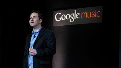Google's Jamie Rosenberg announces the Google Music store and locker in Los Angeles.