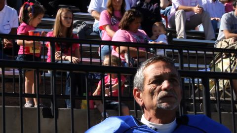 Two of Moore's three daughters and his five grandchildren have attended all but one game this season.