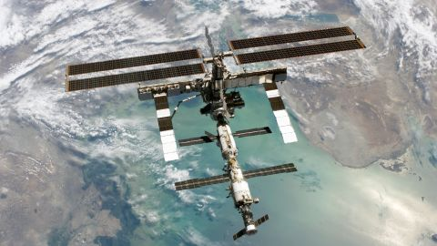 Six crew members were forced to get into escape capsules after space debris threatened the International Space Station.