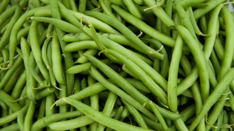 """Green beans alone are one of the healthiest Thanksgiving foods. Research shows that they are an excellent source of vitamin C and antioxidants. But be careful with green bean casseroles -- adding canned soup, butter and cream can bring an extra 200 to 300 calories and should have you saying """"No thanks"""" instead."""