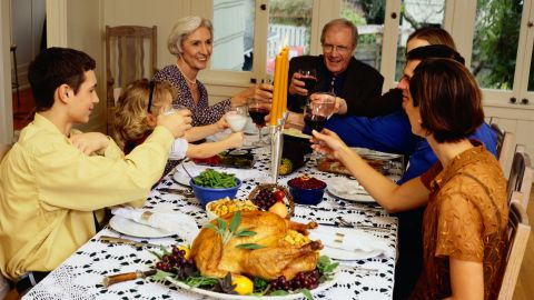 """Be prepared to exercise: The Calorie Control Council says the average person will eat 4,500 calories on Thanksgiving this year. That's 3,000 for dinner and another 1,500 for """"snacking and nibbling"""" -- a nice way of saying """"all the food you'll eat while waiting for the turkey to cool."""""""
