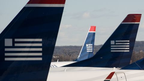 The US Airways Flight 3801 was flying from Portland, Maine, to Philadelphia when the incident occurred.