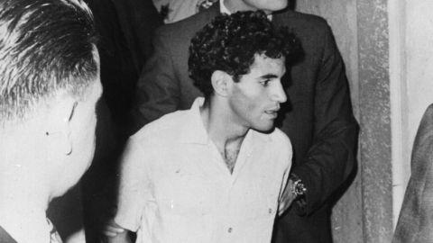 Sirhan Sirhan is taken into custody after the fatal shooting of Sen. Robert F. Kennedy in 1968.