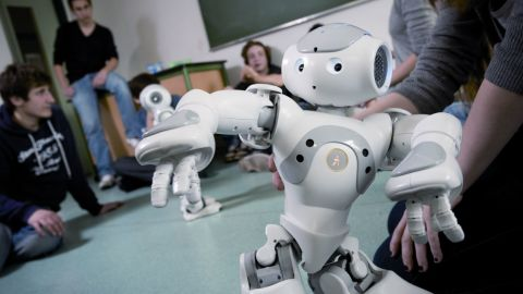 """""""Nao"""" was created by Aldebaran Robotics, in France. Described as a """"versatile, fun and permanently evolving humanoid robot,"""" Nao is intended to help autistic children, who Alderban says """"are often attracted to technology because of its predictability."""""""