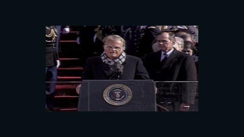 1993: Billy Graham at Clinton inaugural