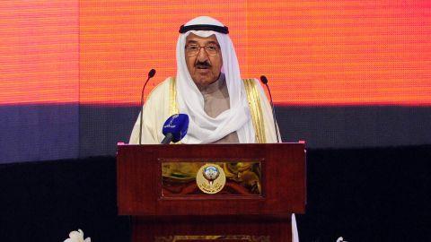 Kuwait's emir Sheikh Sabah Al-Ahmad Al-Jaber Al-Sabah, pictured in November, has dissolved the country's national assembly.