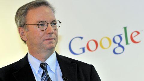 "Google Chairman Eric Schmidt described the deal as an ""historic agreement""."