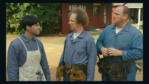 """Chris Diamantopoulos (left), Sean Hayes (center) and Will Sasso star in """"The Three Stooges."""""""