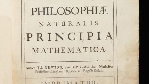 """Newton's annotated copy of his most famous work, """"Principia Mathematica,"""" is among the works added to the online archive."""