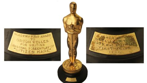 """Orson Welles won the Academy Award for best screenplay in 1941 for the film """"Citizen Kane."""""""
