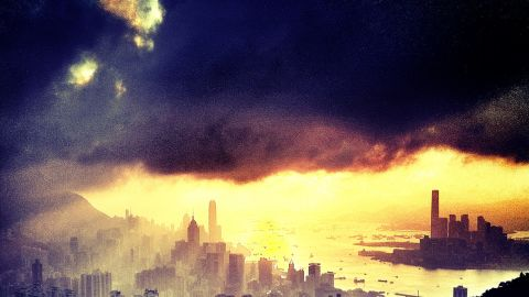 An Instagram photo of the Hong Kong skyline by Tyson Wheatley, a Senior Editor for CNN.com.