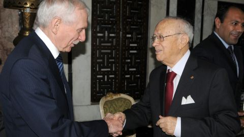 Tunisian President Beji Caid Essebsi is 88. His presidency follows a term as Prime Minister, a role he took following the revolution in the country which sparked the Arab Uprising across the Middle East.