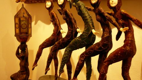 """This figurine by Dimitri Chiparus entitled """"Five Dancers"""" was expected to fetch between $1,500 - $2,500."""