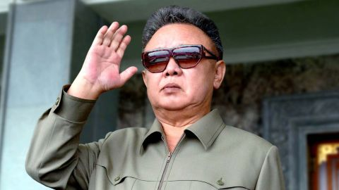 Late North Korean leader Kim Jong Il pictured in September attending a military parade in Pyongyang.